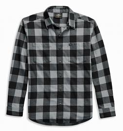 Harley-Davidson® Men's Flag Label Plaid Woven Shirt | Long Sleeves