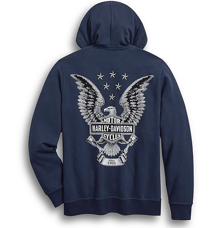 Harley-Davidson® Men's Freedom Hoodie | Zip Front | Integrated Draw-String Hood