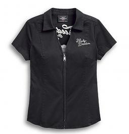 Harley-Davidson® Women's Freedom Shirt | Zip Front | Short Sleeves
