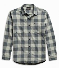 Harley-Davidson® Men's #1 Logo Plaid Woven Shirt | Long Sleeves
