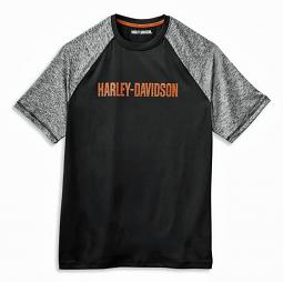 Harley-Davidson® Men's Performance Colorblock T-Shirt | Moisture-Wicking | Short Sleeves