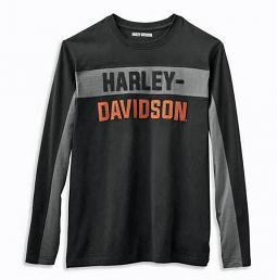 Harley-Davidson® Men's Copperblock Knit Shirt   Block Letters   Long Sleeves