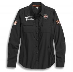 Harley-Davidson® Women's Fast-Dry Classic Performance Shirt | Vented Back | Convertible Sleeves