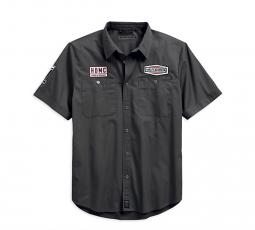 Harley-Davidson® Men's #1 Skull Patch Work Shirt | Short Sleeves | Slim Fit