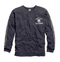 Harley-Davidson® Men's Skull Long Sleeve Tee Black