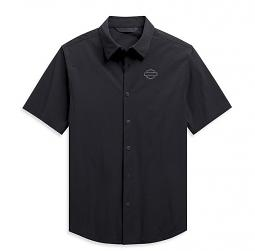 Harley-Davidson® Men's Four-Way Stretch Shirt | Short Sleeves | Slim Fit