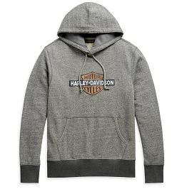 Harley-Davidson® Men's Laser-Cut Pullover Hoodie | Draw-String Hood