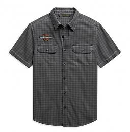 Harley-Davidson® Men's Vintage Logo Plaid Shirt | Yarn Dyed | Short Sleeves