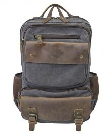 Harley-Davidson® Mustang Backpack | Heathered Grey & Vintage Leather
