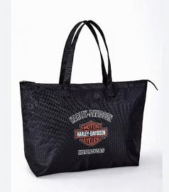 Harley-Davidson® Women's Shopper Tote | Collapsible | Tail Of The Dragon Pattern