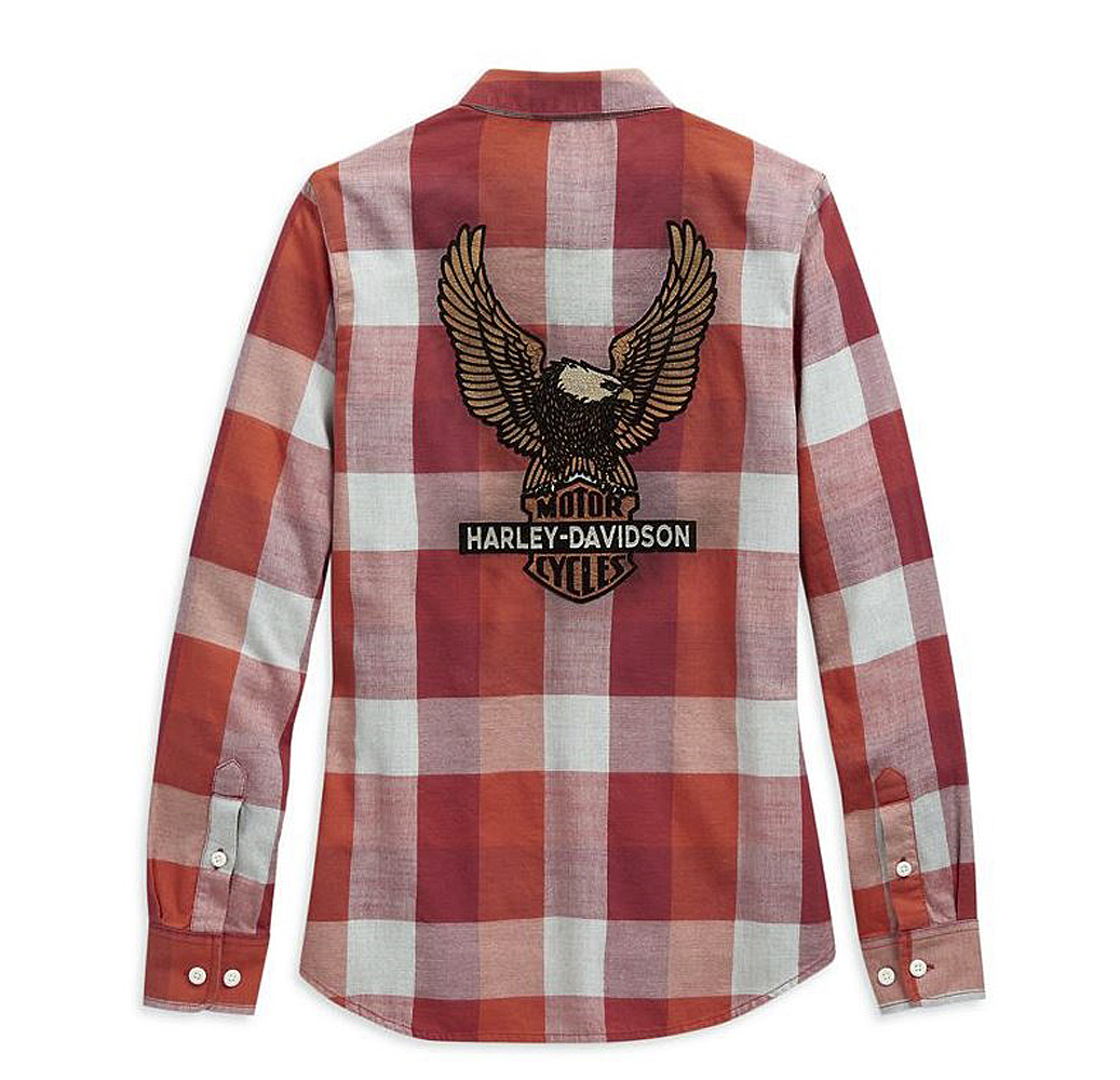 Harley-Davidson® Women's Vintage Eagle Plaid Shirt | Yarn Dyed | Long Sleeves