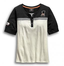 Harley-Davidson® Women's H-D® Racing Henley | Short Sleeves