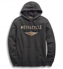 Harley-Davidson® Men's Felt Patch Pullover Hoodie | Slim Fit