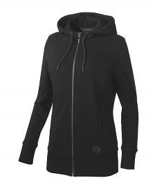 Harley-Davidson® Women's Long-Line Logo Hoodie | Two-Way Zipper