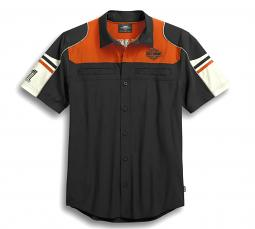 Harley-Davidson® Men's Colorblock Performance Shirt | Short Sleeves | CoolCore® Technology