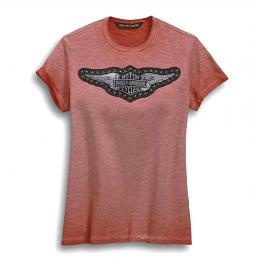 Harley-Davidson® Women's Studded Logo Tee | Winged Bar & Shield® | Short Sleeves