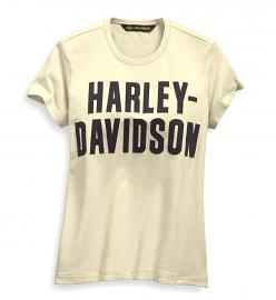 Harley-Davidson® Women's Jersey Appliqué Tee | Laser-Cut Graphics | Short Sleeves