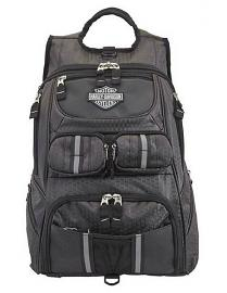Harley-Davidson® Tough Terrain Backpack | Helmet Holder | Ripstop Honeycomb