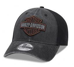 Harley-Davidson® Men's Washed Coloblock 39THIRTY® Baseball Cap | Mesh Back | New Era®