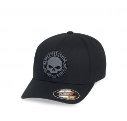 Harley-Davidson® Men's Rubber Skull Patch Stretch Fit Cap | Flexfit®