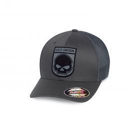 Harley-Davidson® Men's Rubber Skull Patch Stretch Trucker Cap