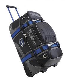 Harley-Davidson® MotorClothes® Wheeling Duffel Carry-On | 29 Inch | Blue/Black