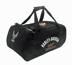 Harley-Davidson® Tail of the Dragon Black Duffel Bag | Water Resistant