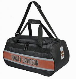 Harley-Davidson® TrailBlazer Rust Vintage Duffel | Adjustable Strap