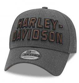 Harley-Davidson® Men's 9FORTY® Grey Baseball Cap | 3-D Embroidery | New Era® | One Size Fits Most