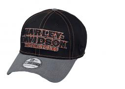 Harley-Davidson® Men's Colorblock 39THIRTY® Baseball Cap | Dimensional Embroidery | New Era®