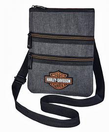 Harley-Davidson® Women's Heathered Grey Crossbody Bag | Sling Bag | Hip Bag