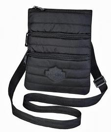 Harley-Davidson® Women's Midnight Quilted Crossbody Bag | Sling Bag | Hip Bag