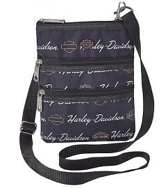 Harley-Davidson® Women's Signature Crossbody Bag | Sling Bag | Hip Bag