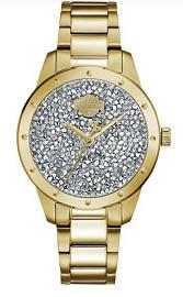 Harley-Davidson® Women's Gold Tone Stainless Steel Watch | Ultra-Fine Black Rock Crystals from Swarovski®