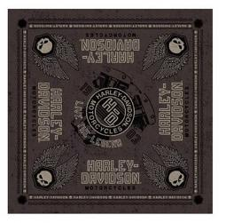 Harley-Davidson® Forged Bandana | Live The Legend | Winged Skulls