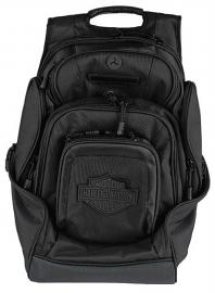 Harley-Davidson® Black Deluxe Backpack | Bar & Shield® | 8 Pockets