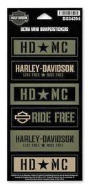 Harley-Davidson® Military Star Ultra Mini Bumper Stickers