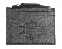 Harley-Davidson® Men's Embossed Bar & Shield® Pocket Wallet | Zip-Top