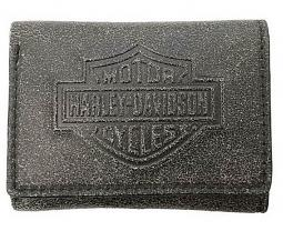 Harley-Davidson® Men's Burnished Bar & Shield® Tri-Fold Wallet | RFID Protection