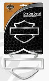 Harley-Davidson® Die Cut Decal   Chrome Vinyl   Bar & Shield® Silhouette   Medium