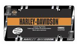 Harley-Davidson® #1 Dark Custom™ Auto License Plate Frame