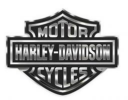 Harley-Davidson® Bar & Shield® Logo Trailer Decal   Chrome & Black   Extra Large
