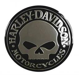 Harley-Davidson® Chrome Skull Decal