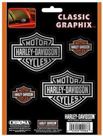 Harley-Davidson® Bar & Shield® Decal Set   Set Includes 4 Decals   Vinyl   Small & Medium