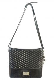 Harley-Davidson® Women's Quilted Chevron Bucket Handbag | Adjustable Shoulder Strap