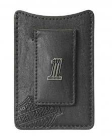 Harley-Davidson® Men's #1 Medallion Front Pocket Wallet | Magnetic Cash Clip | Embossed Bar & Shield®