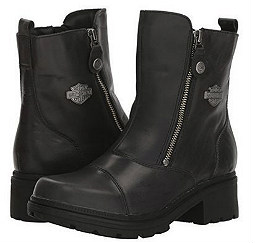 HARLEY-DAVIDSON® FOOTWEAR Women's Amherst Lifestyle Boots | Dual Zippers