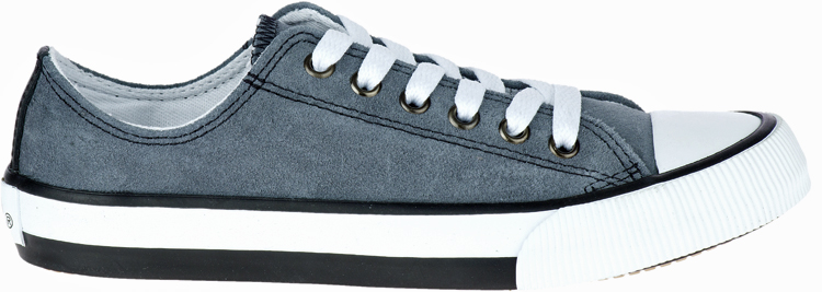 HARLEY-DAVIDSON® FOOTWEAR Women's Burleigh Leather Sneakers | Lifestyle Casual | Grey