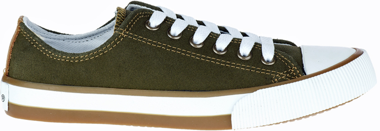 HARLEY-DAVIDSON® FOOTWEAR Women's Burleigh Leather Sneakers | Lifestyle Casual | Olive Green