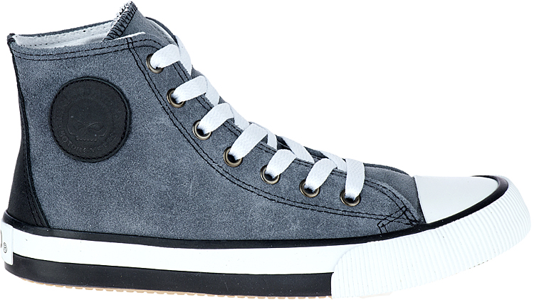 HARLEY-DAVIDSON® FOOTWEAR Women's Toric Leather High-Top Sneakers | Lifestyle Casual | Grey